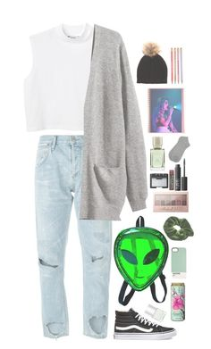 """""""Back to school outfit//🙅🗑🛌"""" by rosita562 ❤ liked on Polyvore featuring Citizens of Humanity, Monki, Nails Inc., Case Scenario, Vans, H&M, M&Co, NARS Cosmetics, Burt's Bees and Maybelline"""