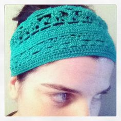 Fascia per capelli  Uncinetto Cotone egiziano  Verde smeraldo Modello Unico
