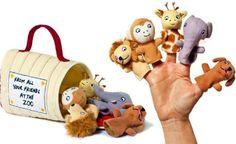 Dear Zoo - 5 x Finger Puppets: Dog, Elephant, Giraffe, Monkey and Lion Soft…