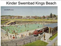 the old Kings Beach swimming pools and small smartie-train - also gone now replaced with a parking lot and lawned area - Port Elizabeth Creature Of Habit, Old King, Us Swimming, Port Elizabeth, South Africa, Paris Skyline, The Past, To Go, Train