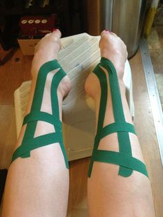 KT Tape for shin splints while running, dancing and cheering