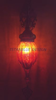 Blown Glass Turkish Handmade Hanging Ottoman by IstanblueDesign
