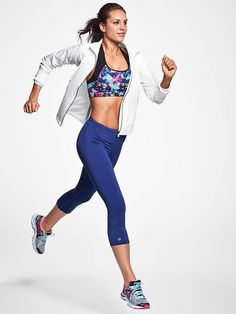 Athleta  Floral Push The Limit Bra | Sport Bras | Running Tights @ http://www.FitnessApparelExpress.com