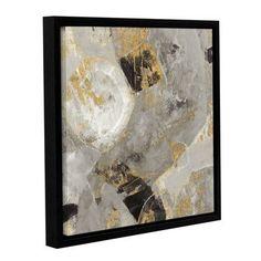 "ArtWall 'Painted Desert Neutral' by Albena Hristova Framed Painting Print Size: 10"" H x 10"" W x 2"" D"