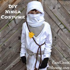 DIY Ninja Costume... easy to make for less than $10. Fun for kids that love LEGO Ninjago.
