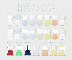 """Lovelyz """"Hi"""" paper doll outfits"""
