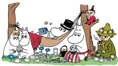 All Things Moomin - Muumien koti verkossa Character Illustration, Illustration Art, Vintage Illustrations, Moomin Wallpaper, Les Moomins, Moomin Valley, Tove Jansson, Interview, Line Sticker