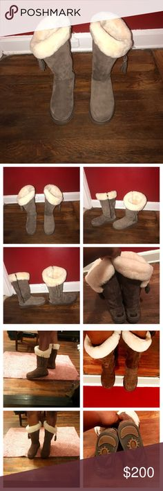 AUTHENTIC Ugg boots I've worn these 2x selling bc I bought a leather pair that I like more. Size 10 is true to size and super warm. light brown color (tan)with tassels on the side . *see last pic PRIOR to purchase** I rubbed my feet against each other and there are minor scuff marks. NO 🅿️🅿️ I DON'T TRADE.  I won't respond if you make an offer in the comments (pls use the offer button). If it's still listed it's available. I won't respond to low ball offers. Thanks for looking 💖 UGG Shoes…
