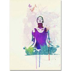 Trademark Fine Art Meditating Mind Canvas Art by Naxart, Size: 18 x 24, Multicolor