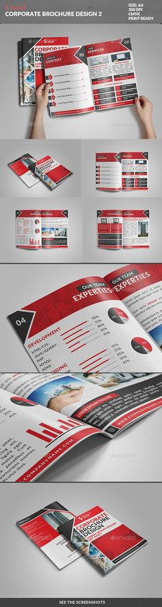 8 Page Bifold Brochure: Corporate Series Template. Download: http://graphicriver.net/item/8-page-bifold-brochure-corporate-series-02/9705383?ref=ksioks