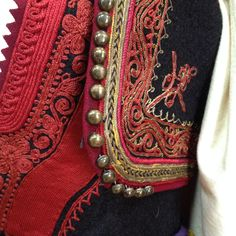The details  traditional bulgarin woman's costume, 19-th - 20-th century  Regional history museum of Burgas, Bulgaria