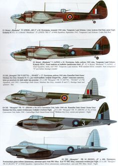 RAF Early Med. Bbr & Mosquito heavy-fighter.