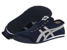 Onitsuka Tiger by Asics Mexico 66® Slip-On Navy/Grey - Zappos.com Free Shipping BOTH Ways