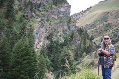 Sam hiking at Rapid River trail 113