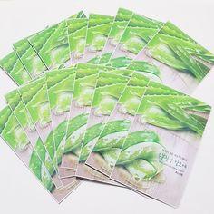 Nature Republic Real Natural Facial Masks Aloe 23ml 3/7/14/30 Sheets Lot Korea #NatureRepublic
