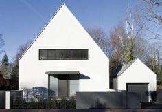 Eingangsansicht (Eingangsansicht, Siedlungshäuser, Satteldach)