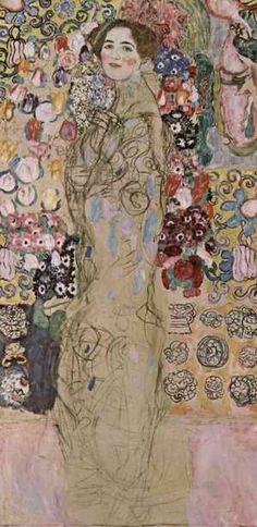 Gustav Klimt,Posthumous Portrait of Ria Munk III (1917-18) - InfoBarrel Images - part of exhibition at National Gallery - Facing the Modern The Portrait in Vienna 1900