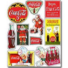 Coca-Cola Scrapbooking Stickers