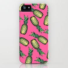 Pineapple Pattern iPhone & iPod Case by Georgiana Paraschiv - $35.00