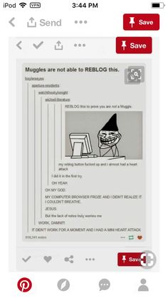 Maybe if your reblog button didn't work at first, but then worked, you're a half blood and if it worked on the first try, you're a full blood, and if it didn't work....youre a muggle....