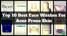 Top 10 Best Face Washes For Acne Prone Skin!! #AcneProneSkin #ThankYourSkin http://www.thankyourskin.com/best-face-wash-for-acne-prone-skin/