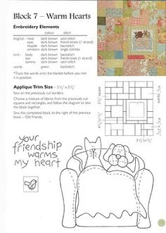 Album Archive - The gift of friendship Applique Tutorial, Applique Templates, Applique Patterns, Stitching Patterns, Hand Applique, Wool Applique, Applique Quilts, Dog Quilts, Cat Quilt
