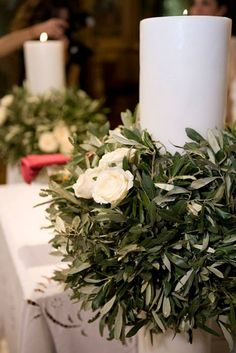 Olive themed Wedding in Athens Greece Olive Wedding, Grecian Wedding, Prom Decor, Church Wedding Decorations, Wedding Church, Wedding Table, Diy Wedding, Wedding Flowers, Wedding Ideas