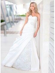 Dolce Satin & Organza A-line Strapless Sweetheart Wedding Dress
