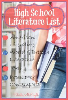 High School Literature List ~ American Literature - via StartsAtEight part of a series of posts on High School Literature