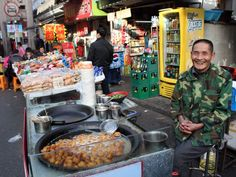 Deep-fried new potatoes vendor, Fangbang Lu, Shanghai