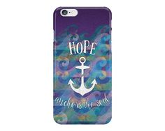 Hope Anchors the Soul Nautical iPhone or Samsung Galaxy Case, Hope Phone Case, Inspirational iPhone, Anchor Phone Case, Ocean Phone Case