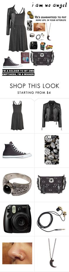 """""""Beetlejuice: Lydia"""" by sweetpete0829 ❤ liked on Polyvore featuring MANGO, Boohoo, Converse, NOVICA, Kenzo, Fujifilm, Friis & Company, Burton and Parts of Four"""