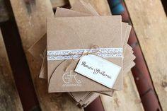 Invitaciones de boda en papel kraft
