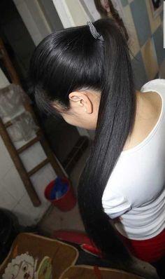 Long Ponytail Hairstyles, Long Hair Ponytail, Indian Hairstyles, Straight Hairstyles, Long Black Hair, Long Layered Hair, Very Long Hair, Thick Long Hair, Long Indian Hair