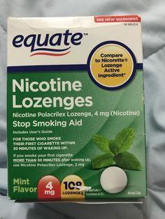 Equate - Nicotine Lozenge 4 Mg, Stop Smoking Aid, Mint Flavor, 108 Lozenges #Equate