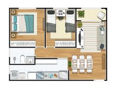 Layouts Casa, House Layouts, My House Plans, Small House Plans, Studio Apartment Floor Plans, Floor Plan Drawing, Floor Plan Layout, Small Apartments, Sweet Home