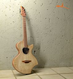 Mistral. A new thinline acoustic/electric hybrid. Design/build by http://murraykuun.com/wordpress/