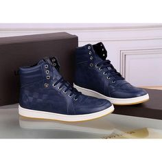 Louis Vuitton LV high-top Leather shoes for men, 1 : 1 quality trainers &  sneakers Boot, inner hogskin