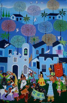 Brazilian folklore - Bumba meu Boi - art by Militao Dos Santos