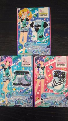 "Trading card of Japanese Animation ""AIKATSU STARS"" star line coorde 6"