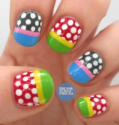Beautiful nails art! Great for kids