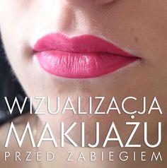 Wizualizacja makijażu przed zabiegiem.