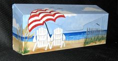 how topaint on mail boxes pictures - Bing Images Painted Pavers, Painted Rocks, Brick Art, Paint Brick, Brick Crafts, Mailbox Makeover, Painted Mailboxes, Wall Mount Mailbox, Nautical Wall Decor
