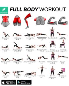 Total Ab Workout, Full Body Gym Workout, Band Workout, Gym Workout Videos, Gym Workout For Beginners, Fitness Workout For Women, Body Fitness, Gym Workouts, At Home Workouts