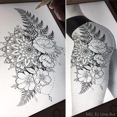 Tattoos, floral thigh tattoos at flower tattoos. Trendy Tattoos, Sexy Tattoos, Cute Tattoos, Beautiful Tattoos, Body Art Tattoos, Girl Tattoos, Small Tattoos, Tattoos For Guys, Tatoos