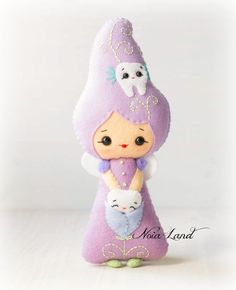 Teeth fairy. PDF pattern. Felt doll. by Noialand on Etsy