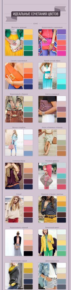 Colour combinatios for bright summer outfits