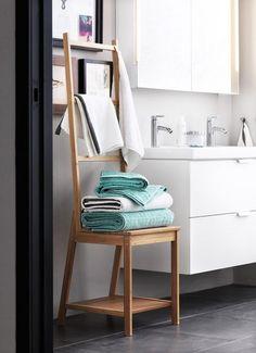 étagère salle de bain ikea bois bambou idée meuble salle de bain pas cher