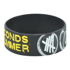 5 Seconds Of Summer Symbols Rubber Bracelet   Hot Topic ($4.90) ❤ liked on Polyvore featuring jewelry, bracelets, bracelet bangle, rubber jewelry, rubber bracelet, rubber bangles and bracelet jewelry