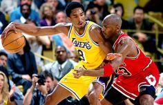 Lakers/Bulls Kobe Bryant v. Michael Jordan NBA Basketball x Photo Michael Jordan Basketball, Kobe Vs Jordan, Kobe Bryant Michael Jordan, Jordan Bulls, Mike Jordan, Chicago Bulls, Salford City, Kobe Bryant Pictures, Sport Nutrition